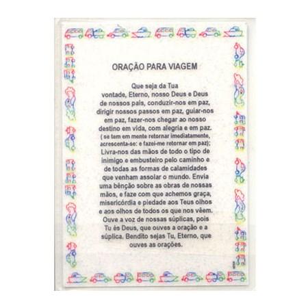 Oração para viagem plastificada grande - Hebraico e Português