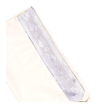 Talit de Lã com Listras Brancas - Tamanho 50