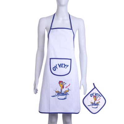 Kit Avental e porta prato-quente Oy Vey
