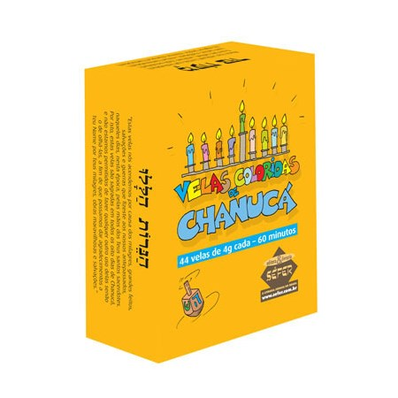 Velas coloridas de Chanucá - Velas Chanuca SEFER - 2 caixas