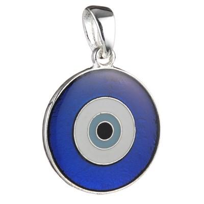 Pingente Olho Grego Vitral - Tamanho 1,5 cm. de diâmetro (Azul)