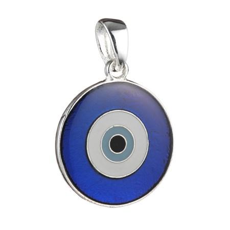 Pingente Olho Grego Vitral - Tamanho 1,5 cm. de diâmetro (Vermelho)