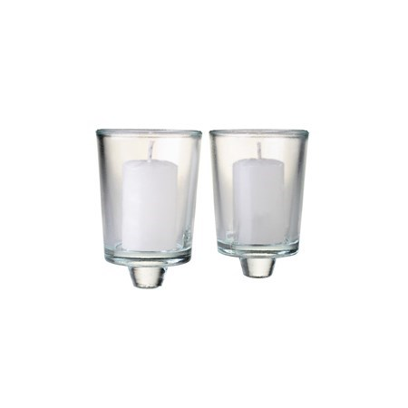 Copos de vidro para casti�al