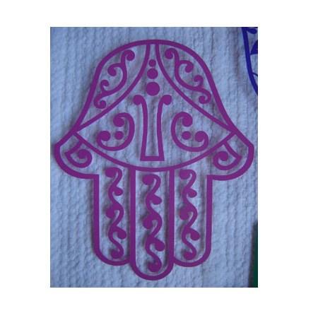 Adesivo Hamsa vazada decorada - Branco