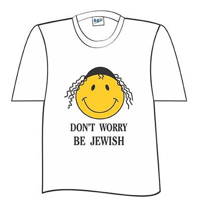 Camiseta Don't Worry Be Jewish