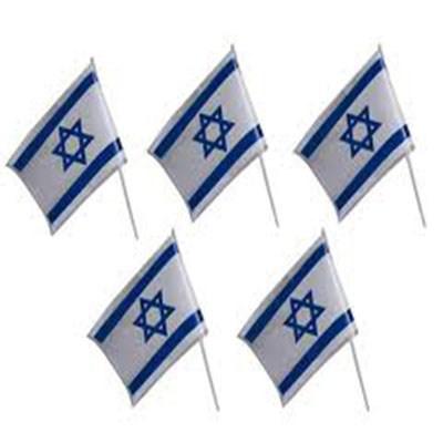 Bandeira de Israel de plástico