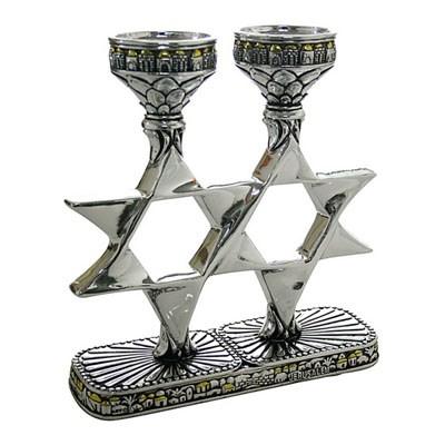Castiçal estrela de David Jerusalem