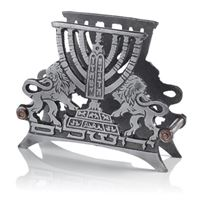 Porta guardanapos Leões de Judá - Bronze