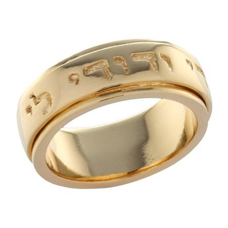 Anel giratório Ani le Dodi banhado a ouro - Tamanho 13
