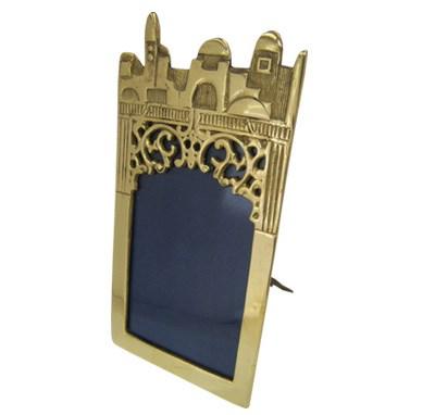 Porta retrato dourado Jerusalém
