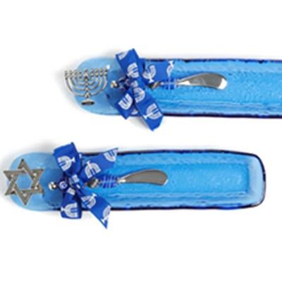 Prato judaico com colher - Chanukiá