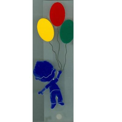 Mezuzá acrílico infantil balões menino I