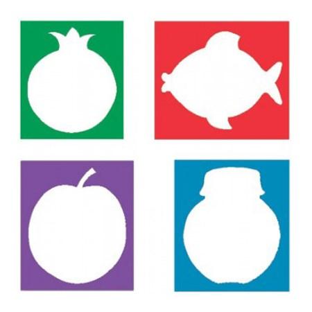 Set símbolos Rosh Hashaná