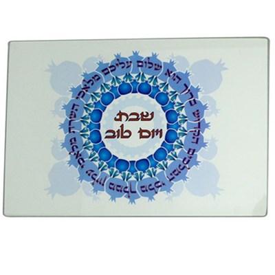 Tábua para chalá vidro Shalom Aleichem II