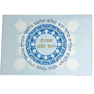 Tábua para chalá vidro Shalom Aleichem I