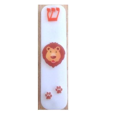 Mezuzá infantil acrilico leãozinho