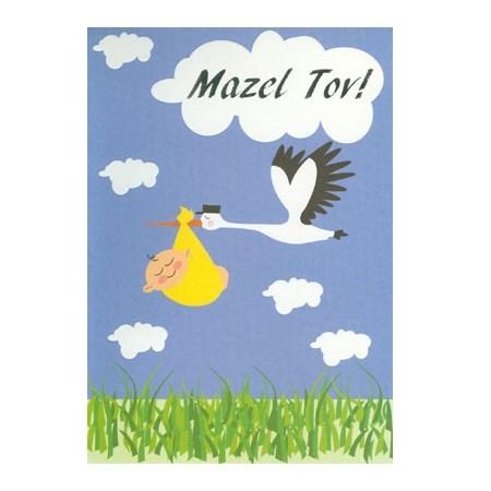 Cartão Mazal tov cegonha