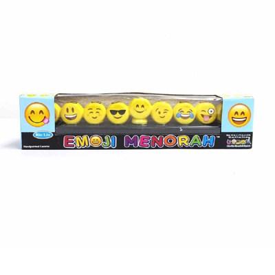 Chanukiá de cerâmica emojis