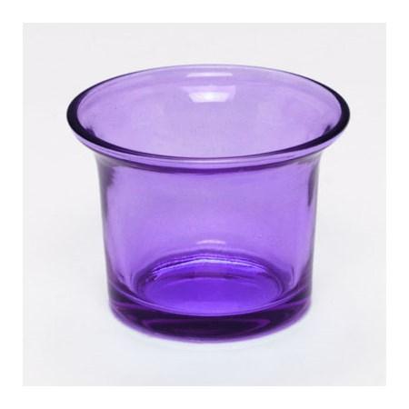 Copinho  de vidro colorido  para vela  - Lilás