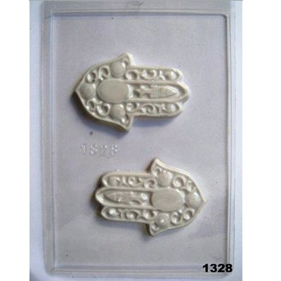 Forma chocolate LETRAS e HAMSA - Hamsa média (1328)