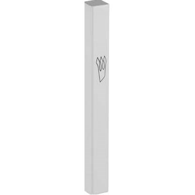 Mezuzá de alumínio 10 cm - Branca