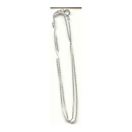 Corrente de prata veneziana - Veneziana fina 40 cm