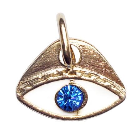 Pingente olho grego esmaltado - dourado